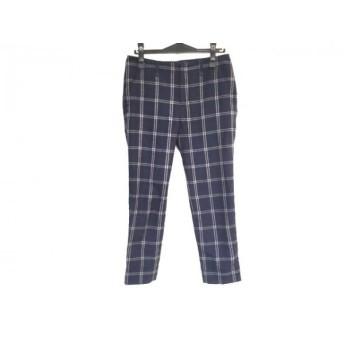 【中古】 ビームスハート パンツ サイズ0 XS レディース ネイビー ベージュ カーキ チェック柄