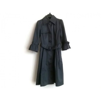 【中古】 ミッシェルクラン MICHELKLEIN コート サイズ38 M レディース ダークグレー 春・秋物