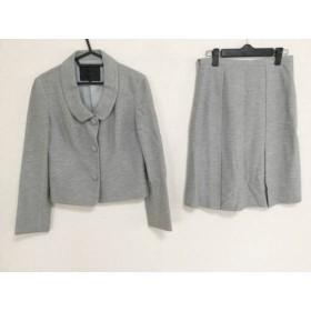 【中古】 アンタイトル UNTITLED スカートスーツ サイズ2 M レディース ライトグレー