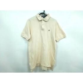 【中古】 ポロラルフローレン POLObyRalphLauren 半袖ポロシャツ サイズM メンズ アイボリー