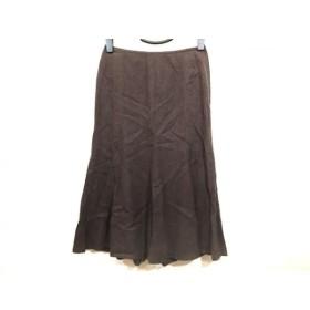 【中古】 エポカ EPOCA ロングスカート サイズ38 M レディース ダークベージュ
