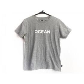 【中古】 ヘリーハンセン HELLY HANSEN 半袖Tシャツ レディース ライトグレー 白 グレー 両面プリント