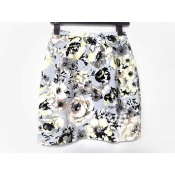 【中古】 フレイアイディー ミニスカート サイズ00 XS レディース ライトブルー グレー マルチ 花柄