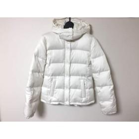 【中古】 エムプルミエ M-PREMIER ダウンジャケット レディース 白 冬物/フード取り外し可