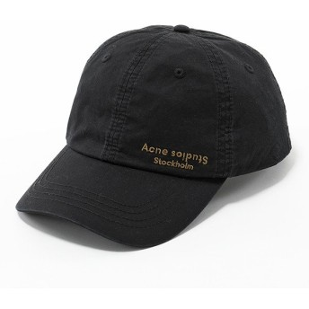 Acne Studios アクネ ストゥディオズ C40021 900000 CARLIY DYE ベースボールキャップ 帽子 ロゴ刺繍 Black ユニセックス