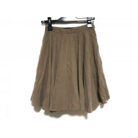 【中古】 クイーンズコート QUEENS COURT スカート サイズ1 S レディース ブラウン