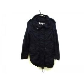 【中古】 バーバリーブラックレーベル Burberry Black Label コート サイズ38 M レディース 黒 春・秋物
