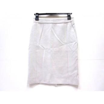 【中古】 ノーブランド スカート サイズ34 S レディース ライトグレー 白