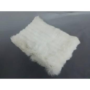 【中古】 プロポーションボディドレッシング マフラー 白 アイボリー ファー 化学繊維