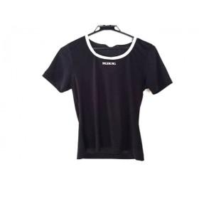 【中古】 インゲボルグ INGEBORG 半袖カットソー レディース 黒 アイボリー 刺繍