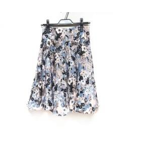 【中古】 ポールスミスプラス スカート サイズ40 L レディース ライトブルー マルチ 花柄