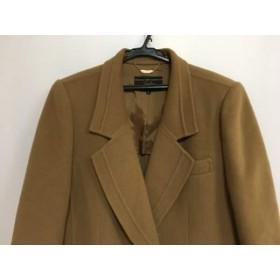 【中古】 レリアン Leilian コート サイズ9 M レディース 美品 ライトブラウン 肩パッド/冬物