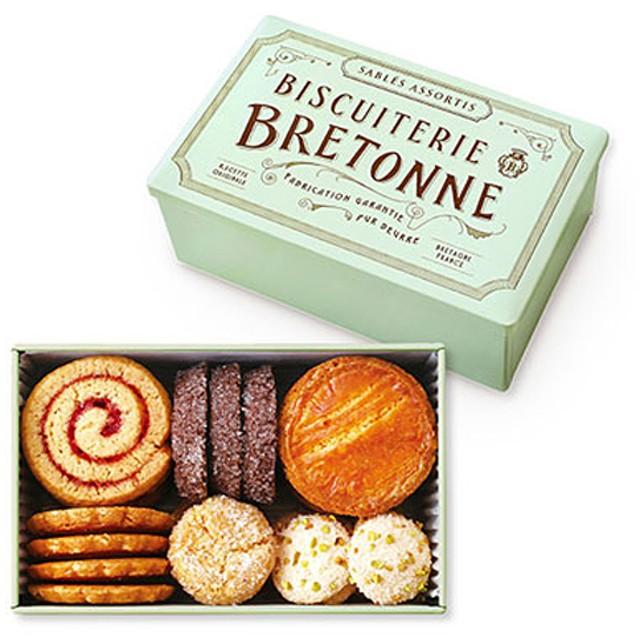 ビスキュイテリエ ブルトンヌ ブルターニュ クッキーアソルティ〈缶〉(23個入り)