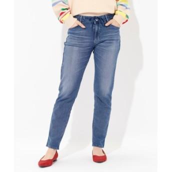 EDWIN 【涼しいジーンズ】「JERSEYS」COOL MESH ジャージーズ テーパードパンツ レディース 中濃加工色
