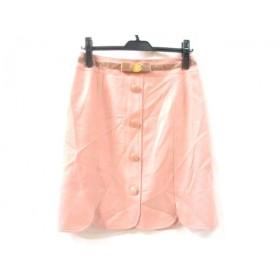 【中古】 クイーンズコート QUEENS COURT スカート サイズ2 M レディース ピンク