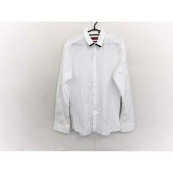 【中古】 ヒューゴボス HUGOBOSS 長袖シャツ サイズS メンズ 白