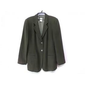 【中古】 ジョルジオアルマーニ ジャケット サイズ42 M レディース ダークブラウン 肩パッド/冬・秋物