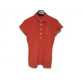 【中古】 ラルフローレン RalphLauren 半袖ポロシャツ サイズS レディース ビッグポニー レッド