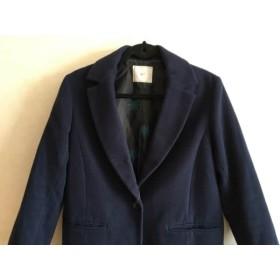 【中古】 スライ SLY コート サイズ2 M レディース ネイビー 冬物