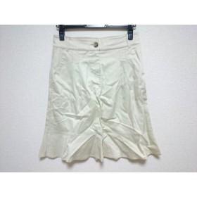 【中古】 バレンチノ R.E.D VALENTINO スカート サイズ44 L レディース アイボリー