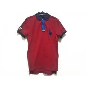 【中古】 ポロラルフローレン 半袖ポロシャツ サイズXS メンズ ビッグポニー ハーフジップ