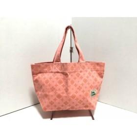 【中古】 デイリーラシット Daily russet トートバッグ 新品同様 ピンク オレンジ ミニ キャンバス