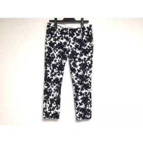 【中古】 アプワイザーリッシェ Apuweiser-riche パンツ サイズ0 XS レディース 黒 白 花柄