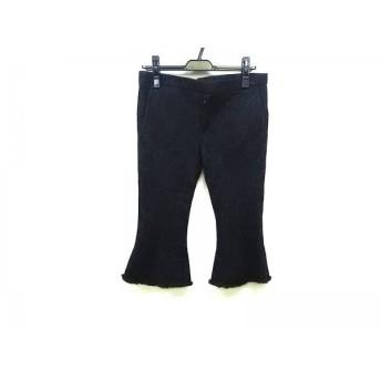 【中古】 バジュラ bajra パンツ サイズS レディース 美品 ダークグレー 裾切りっぱなし加工/ラメ