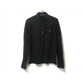 【中古】 ポロラルフローレン POLObyRalphLauren 長袖ポロシャツ サイズS メンズ 美品 黒