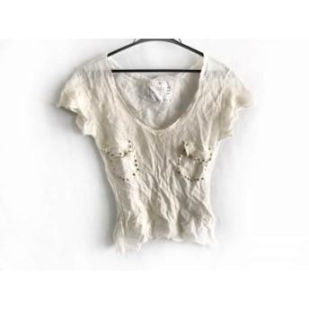 【中古】 サカイ Sacai 半袖セーター サイズ38 M レディース アイボリー ゴールド 薄手/スタッズ/196