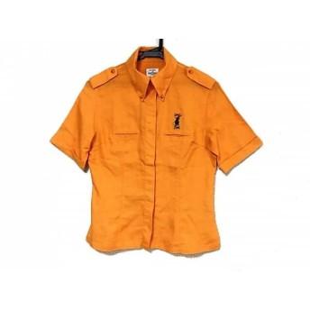 【中古】 カステルバジャックスポーツ 半袖シャツブラウス サイズF レディース オレンジ マルチ 刺繍