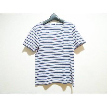 【中古】 フクゾー FUKUZO 半袖Tシャツ サイズM レディース 白 ネイビー レッド ボーダー