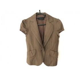【中古】 ビーシービージーマックスアズリア ジャケット サイズXXS XS レディース 美品 ストライプ/半袖