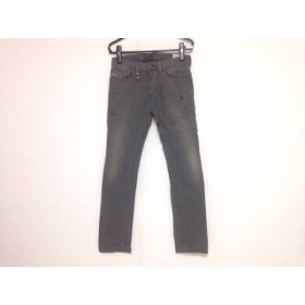【中古】 ディーゼル DIESEL パンツ サイズ28-30 メンズ THANAZ カーキ グレー アイボリー