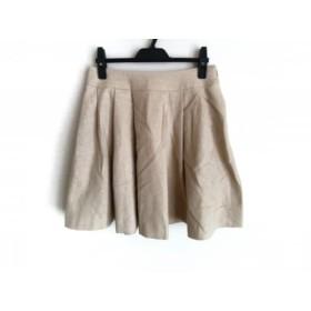 【中古】 アベニールエトワール Aveniretoile スカート サイズ38 M レディース ベージュ プリーツ