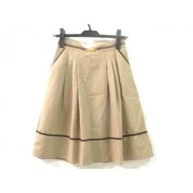 【中古】 クイーンズコート QUEENS COURT スカート サイズ0 XS レディース ブラウン マルチ