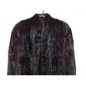 【中古】 ブラックグラマ Blackglama コート サイズF レディース ダークブラウン 冬物/ミンク