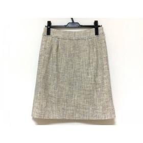 【中古】 マッキントッシュフィロソフィー スカート サイズ38 L レディース 美品 ベージュ グレー