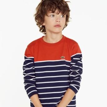 パネルボーダーボーイズロングスリーブTシャツ
