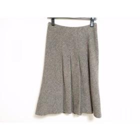 【中古】 ニジュウサンク 23区 スカート サイズ36 S レディース グレー 黒