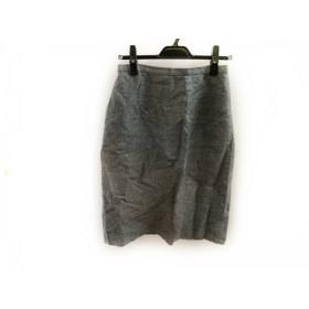 【中古】 スキャパ Scapa スカート サイズ40 XL レディース ライトグレー 黒