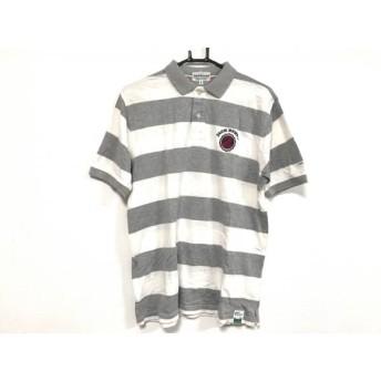 【中古】 パーリーゲイツ 半袖ポロシャツ サイズ6 メンズ ダークグレー グレー アイボリー マルチ