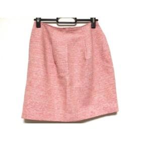 【中古】 ジャスグリッティー JUSGLITTY ミニスカート サイズ0 XS レディース ピンク オレンジ ベージュ