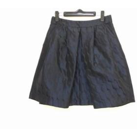 【中古】 アルマーニコレッツォーニ スカート サイズ38 S レディース ダークネイビー 黒