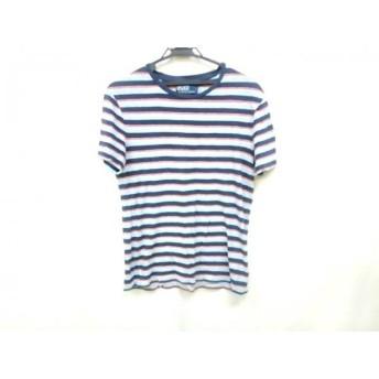 【中古】 ポロラルフローレン 半袖Tシャツ サイズM メンズ ブルー ネイビー マルチ ボーダー