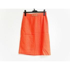 【中古】 レキップ ヨシエイナバ スカート サイズ38 M レディース 新品同様 オレンジ