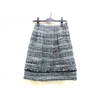 【中古】 ナチュラルビューティー NATURAL BEAUTY スカート サイズ34 S レディース 白 黒ミックス