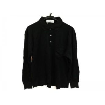 【中古】 ジバンシー GIVENCHY 長袖ポロシャツ サイズM メンズ 黒 GENTLEMAN
