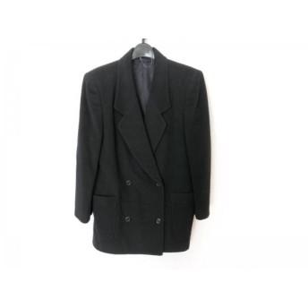 【中古】 バーバリーズ Burberry's コート サイズ9 M レディース 黒 肩パッド/冬物