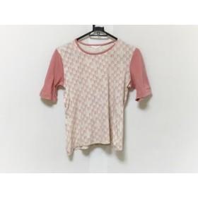 【中古】 インゲボルグ INGEBORG 半袖Tシャツ サイズM レディース 白 ピンク